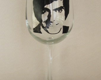 Hand Painted Wine Glass - DAVID COPPERFIELD - Magician, Illusionist