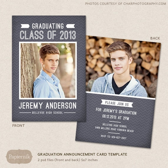 senior graduation announcement template for photographers psd. Black Bedroom Furniture Sets. Home Design Ideas