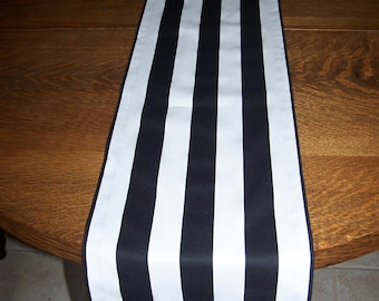 Striped Runner.Black and White Stripe Runner.Striped Table Cloth.Runner.Table Topper.Buffet Table. Wedding. Black Stripe.Table Cover.Table