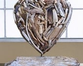 Driftwood Heart on Stand
