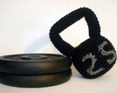 Crochet Plush Kettlebell / Crossfit Baby Rattle / Stuffed Toy