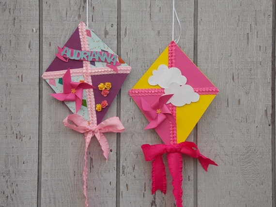 Items similar to whimsical decorative kites kites for Decoration kite