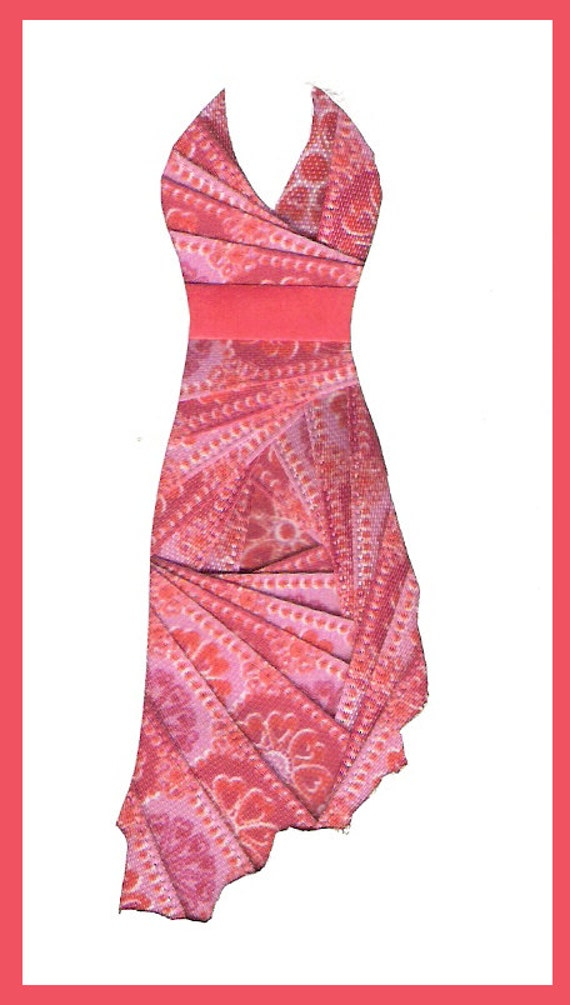 Items Similar To Formal Dresses Iris Folding Patterns