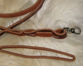 Handmade Leather Dog Lead 6.5 Ft.
