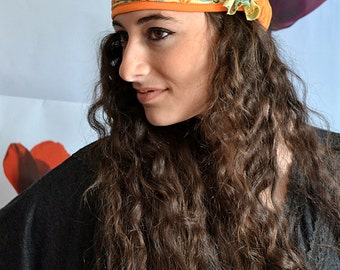 Colorful Headband With Floral Patterns Turban Velour Bandana