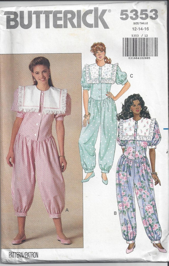 Butterick 5353 Pattern for Misses Jumpsuit, Sizes 12-14-16, FACTORY FOLDED & Uncut. From 1991