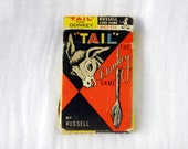 TAIL The Donkey Game 1959 Card Game Altered Art Excellent Condition Original Box with Directions Complete Pin the Tail on the Donkey