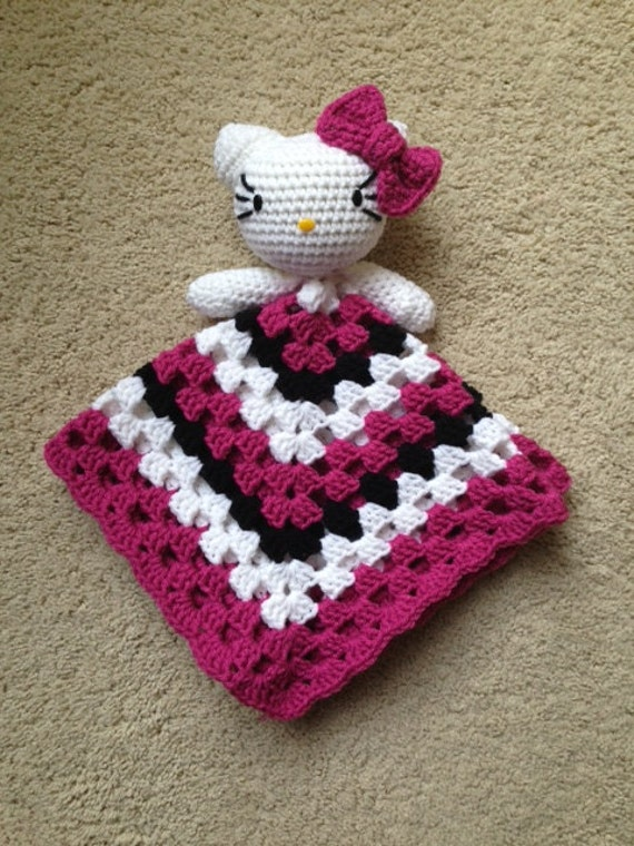 Crochet Hello Kitty Inspired Lovey Pattern By Toquefairies