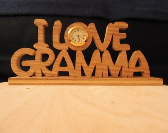 I Love Gramma Clock