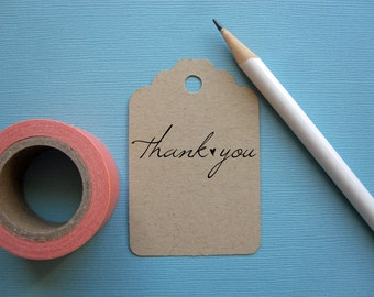 Thank you stamp with heart, black self inking stamp or wood handle rubber stamp
