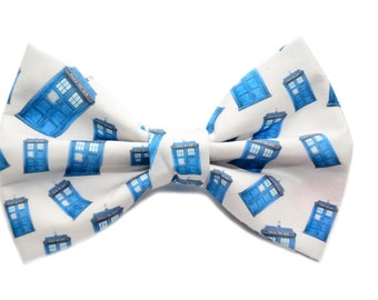 Dr Who Bow Tie, with adjustable strap, Tardis, Fandom, Bow Ties Are Cool, Doctor Who, tardis, men's bowties, boys bowties, sizes