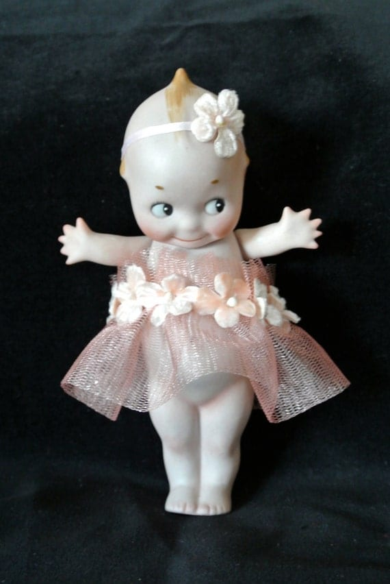 Rescued 6 Inch Antique Bisque Rose O Neill Kewpie Doll