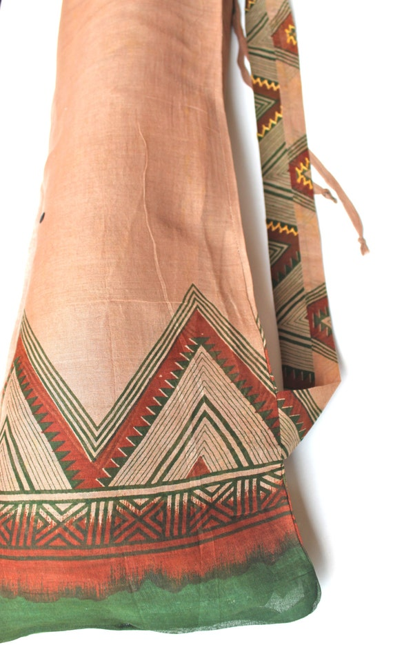 Yoga Mat Bag Take 10 Off Upcycled From Indian Sari With
