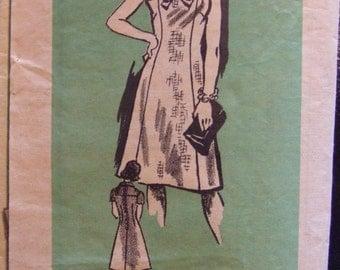 Vintage Let's Sew  no. 4921 size 16 1/2.  Ladies Dress Pattern. Cut pattern