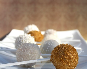 White & Gold Cake Pops