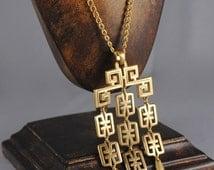 Trifari Vintage Necklace Trifari Pendant Chandelier Pendant 1960s Trifari Necklace Trifari Jewelry