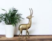 Brass Antelope, Mid Century Modern Vintage Home Decor