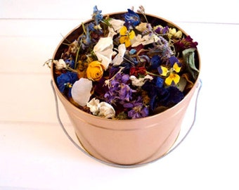 PAIL of WILDFLOWERS & PETALS, Wedding Confetti - White, Silver or Bronze Pail of WildflowerFetti™, Shabby Chic, Rustic, ecofriendly wedding