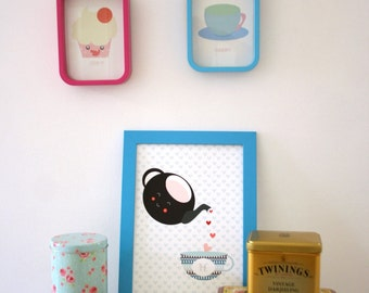Tea Lover's Print. Cute Tea Wall Art