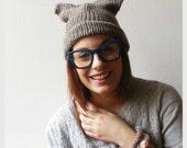 Womens Handmade Knitted Kawaii Cat Ears Hat Beanie - aBanchOfFashion