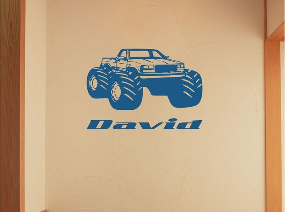 Items similar to Monster Truck Car Decals, car wall decal, Muscle ...