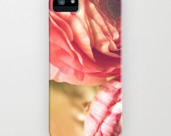 iPhone Case - 5 4 4s 3g 3gs -  Vintage Ranunculus - soft - romantic - fiminine - blossom - flower  - floral - pink -