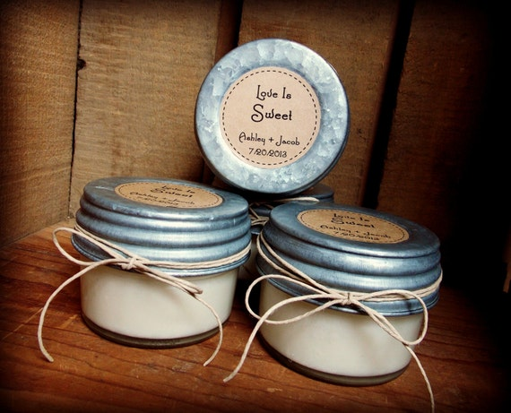 Bridal Shower Favor Sayings For Candles : ... Wedding Favors, Soy Candles, Mason Jar Candles, Eco-Friendly Favors on