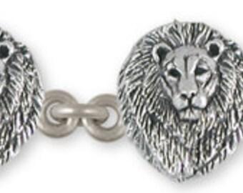 Solid Sterling Silver Lion Bracelet - LION6B