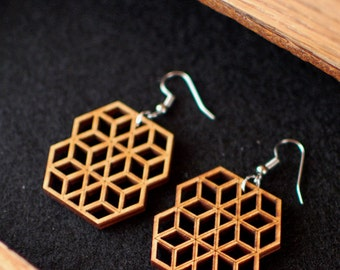 Honeycomb Screen Earrings