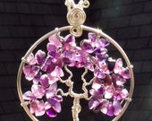 Amethyst Tree of Life Necklace - Silver Plated