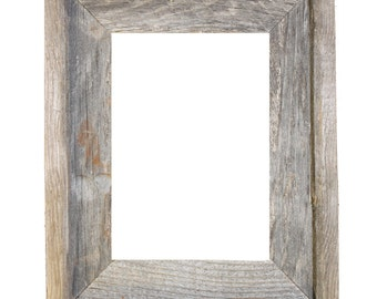 "8x10 –2"" wide Barnwood Reclaimed Wood Open Frame (No Glass or Back)"