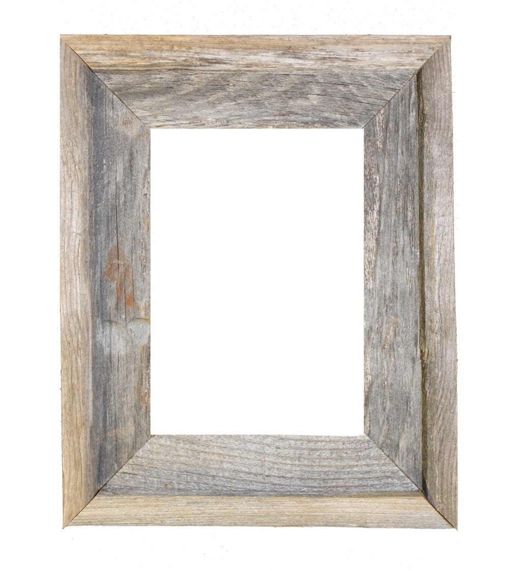 Wood Photo Frames : Rustic Wooden Frame 24x36 2 wide barnwood reclaimed wood open by ...