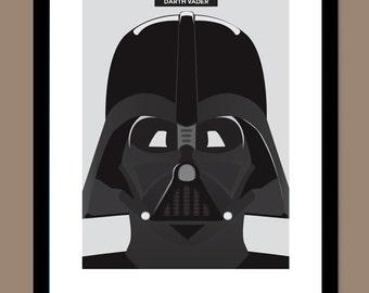 Darth Vader Poster, Star Wars Poster, Star Wars Print, Darth Vader Print
