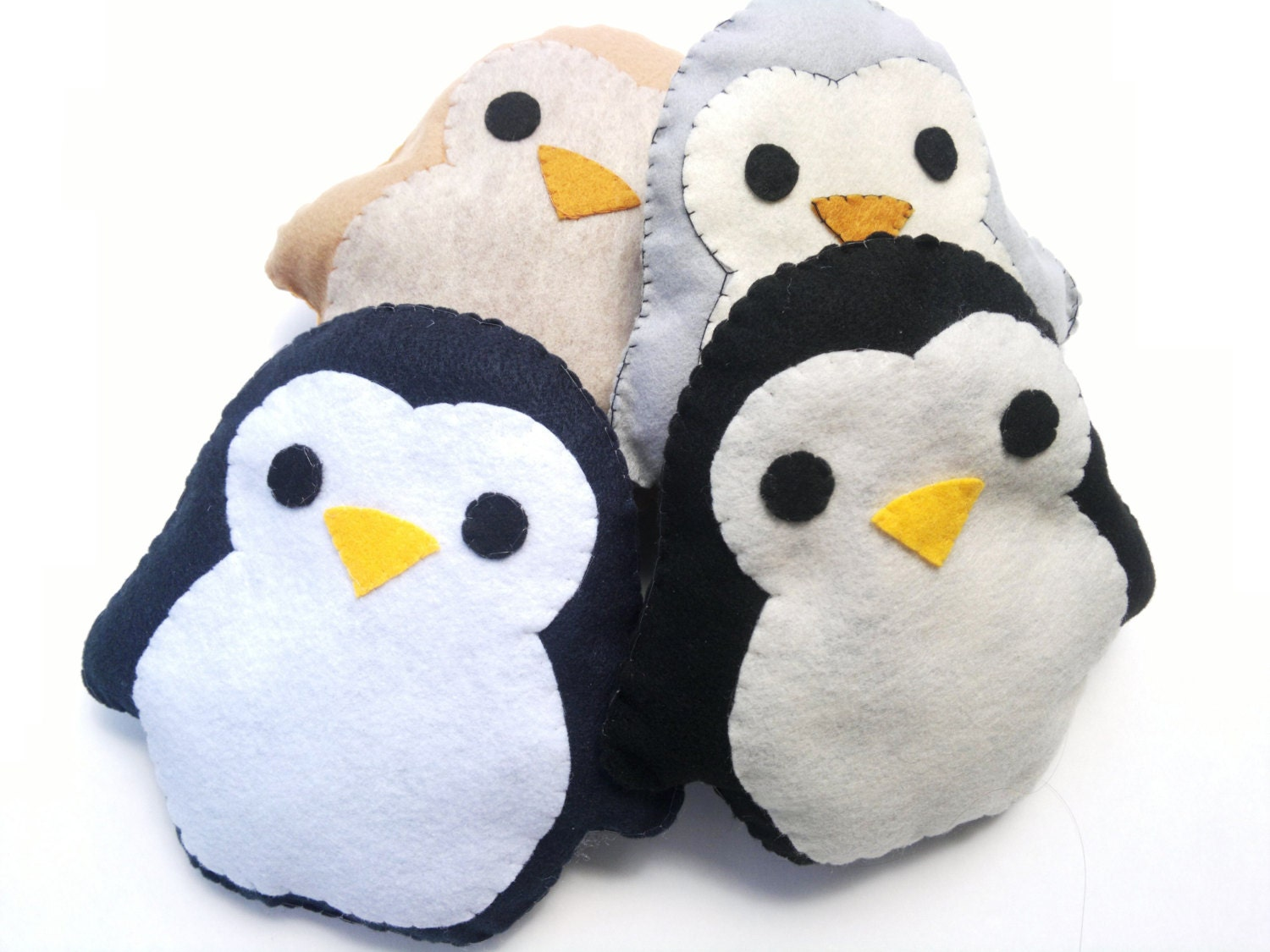 Animal Pillows : Cute Handmade and Handsewn Kawaii Penguin by WhimsicaIWonderIand
