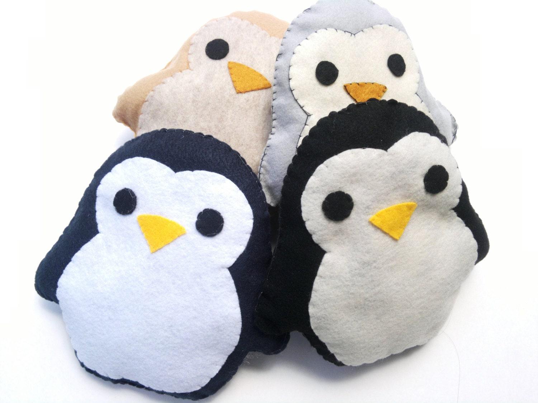 Cute Animal Pillows Diy : Cute Handmade and Handsewn Kawaii Penguin by WhimsicaIWonderIand