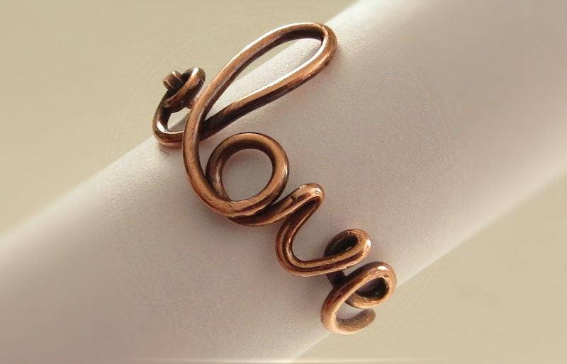 ring copper wire ring ring handmade wire
