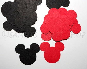 100 Mickey Mouse Confetti, Mickey Mouse Birthday Party, Baby Shower Party Supplies, Mickey Mouse First Birthday Party Decor