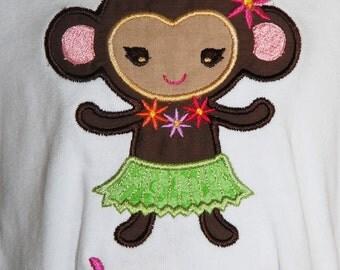 Custom Embroidered Shirts Hula Monkey Design