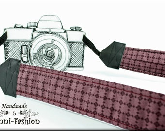 Camera strap, camerastrap, checkered