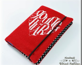 YOUNG AT HEART, notebook, diary, red