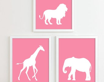 Kids Art for Children, Baby Nursery Decor, Jungle Nursery Art Print, Safari Animal Nursery Wall Art Zoo Kids Decor