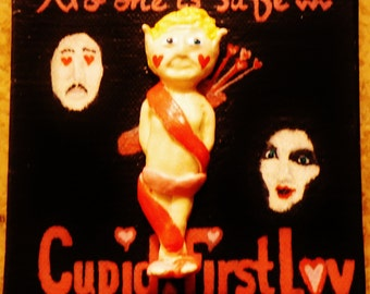 Cupid: First Love 3D Postcard Painting