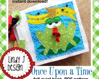 Once Upon a Time Felt Quiet Book .PDF Pattern