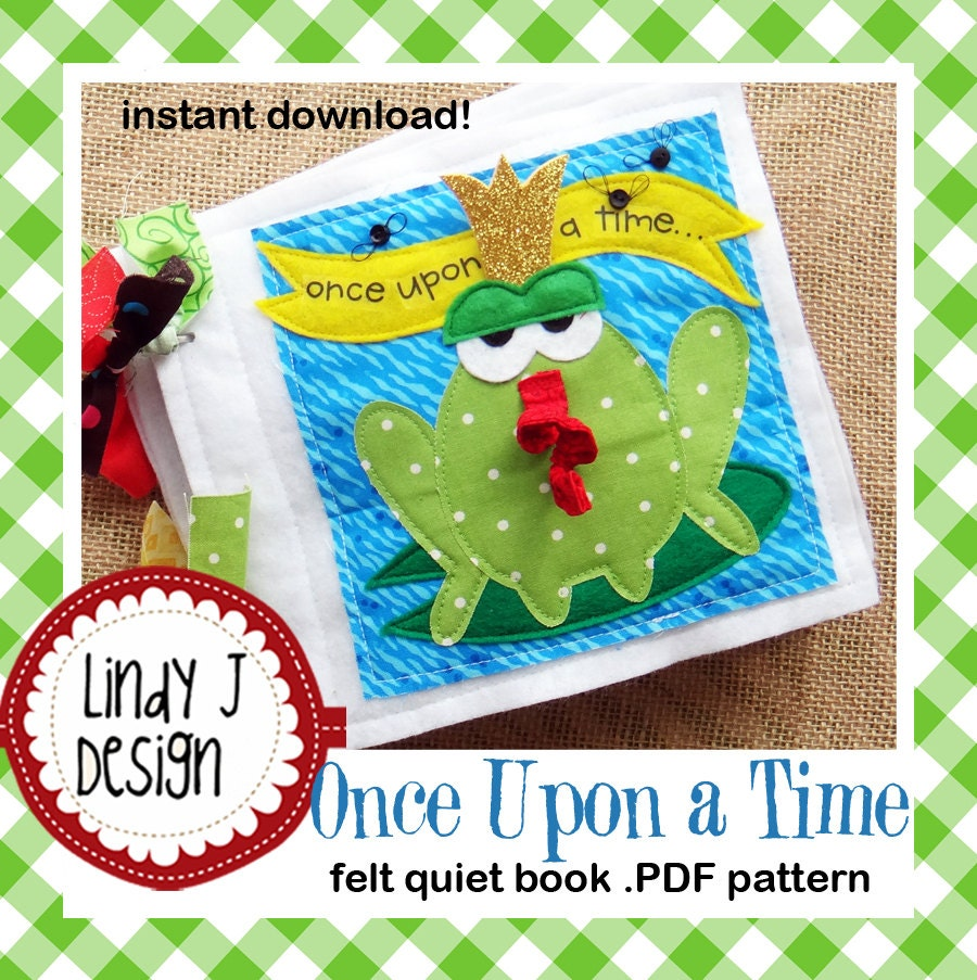 Felt Book Cover Pattern : Once upon a time felt quiet book pdf pattern