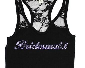 Bridesmaid Tank Top. Bride. Bachelorette Party. Maid of Honor. Team Bride. Wedding Bridal Party. bride Tank Top. Mother of The Bride.