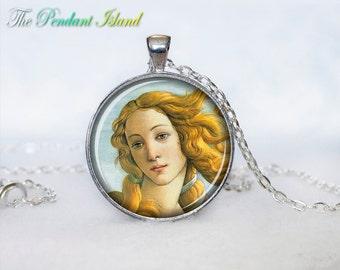 The Birth of Venus pendant Venus necklace Venus jewelry Botticelli art for her for him art picture