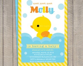 Duck Baby Shower Invitation / Rubber Duck Baby Shower invitation / Rubber Duck Invitation / Duck Invitation