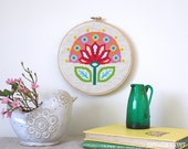 Bloom - Retro Scandi Flower Modern cross stitch pattern PDF - Instant download