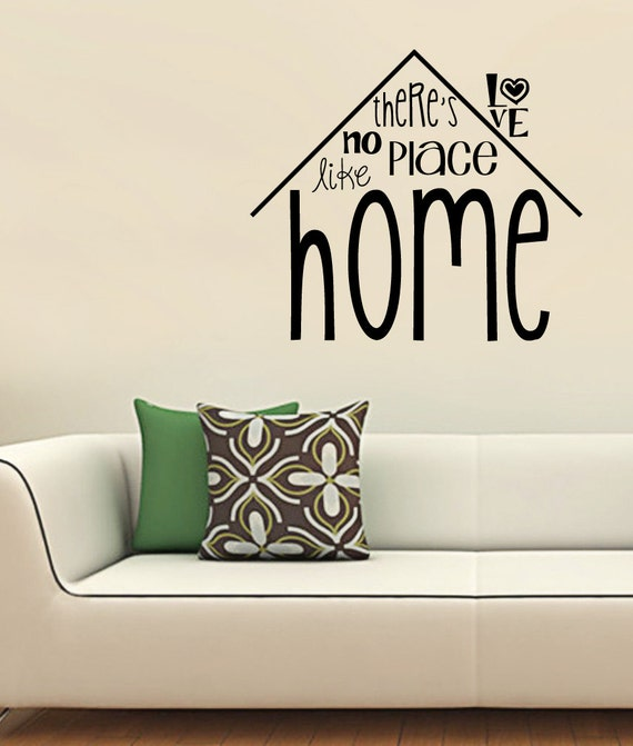 Home Decor Places: No Place Like Home Decal Home Decor Famous Quote