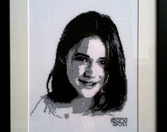 COMMISSIONED PORTRAITS in cross-stitch